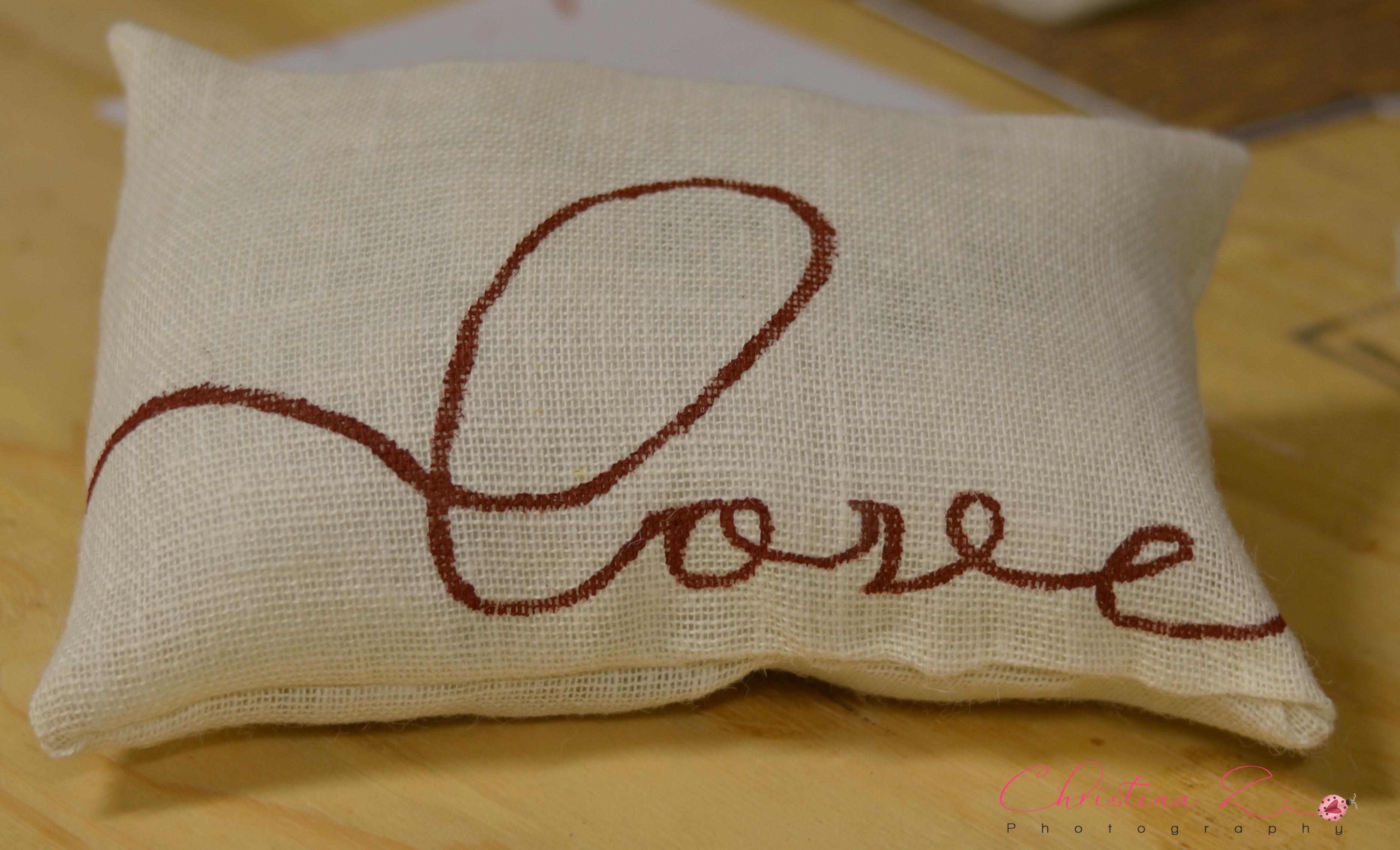 & DIY: No-Sew Burlap Pillow - Christina Z Photography pillowsntoast.com