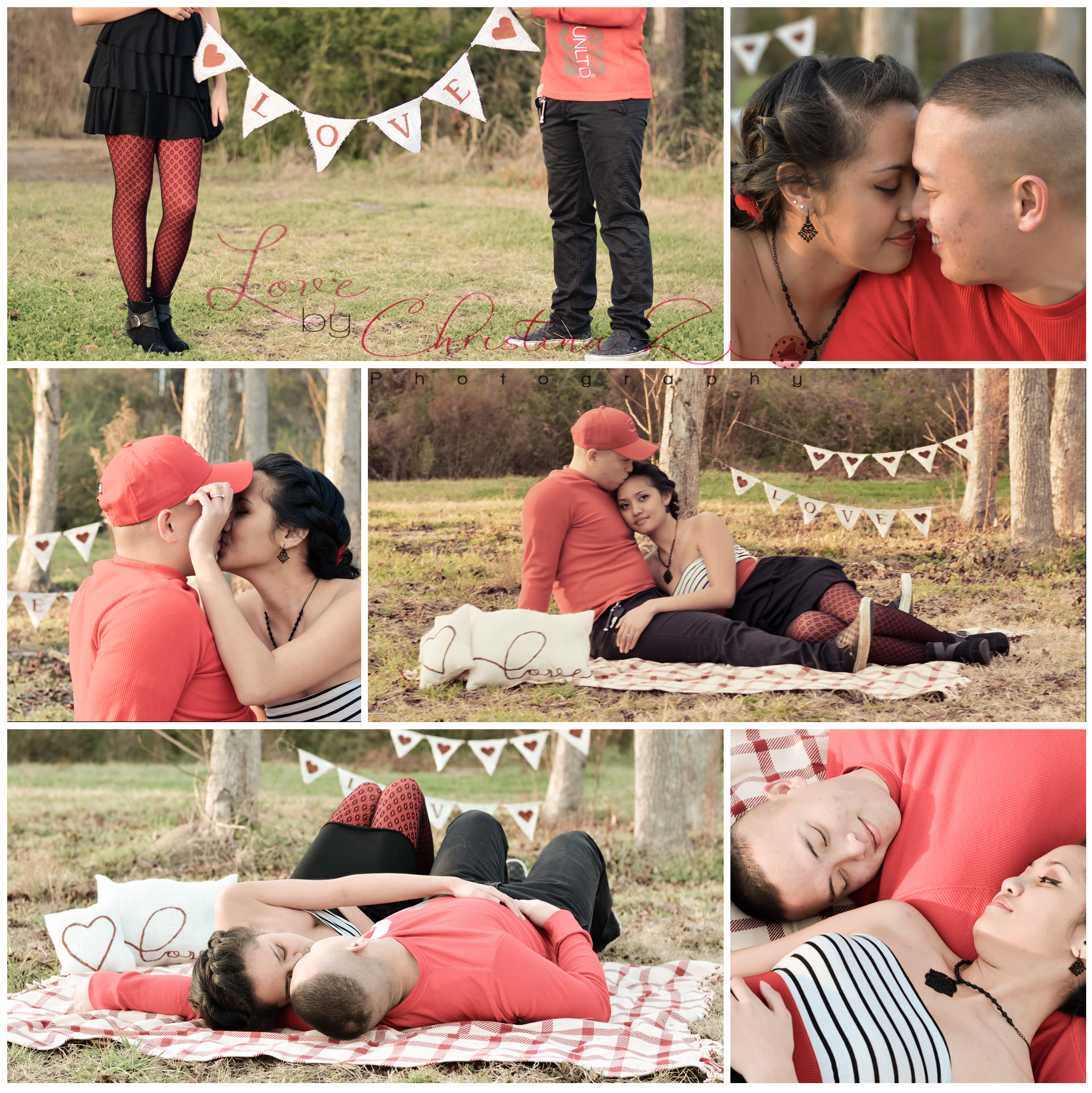 Valentine Theme Couple in LOVE Photo Session | Love by Christina Z Photography ©