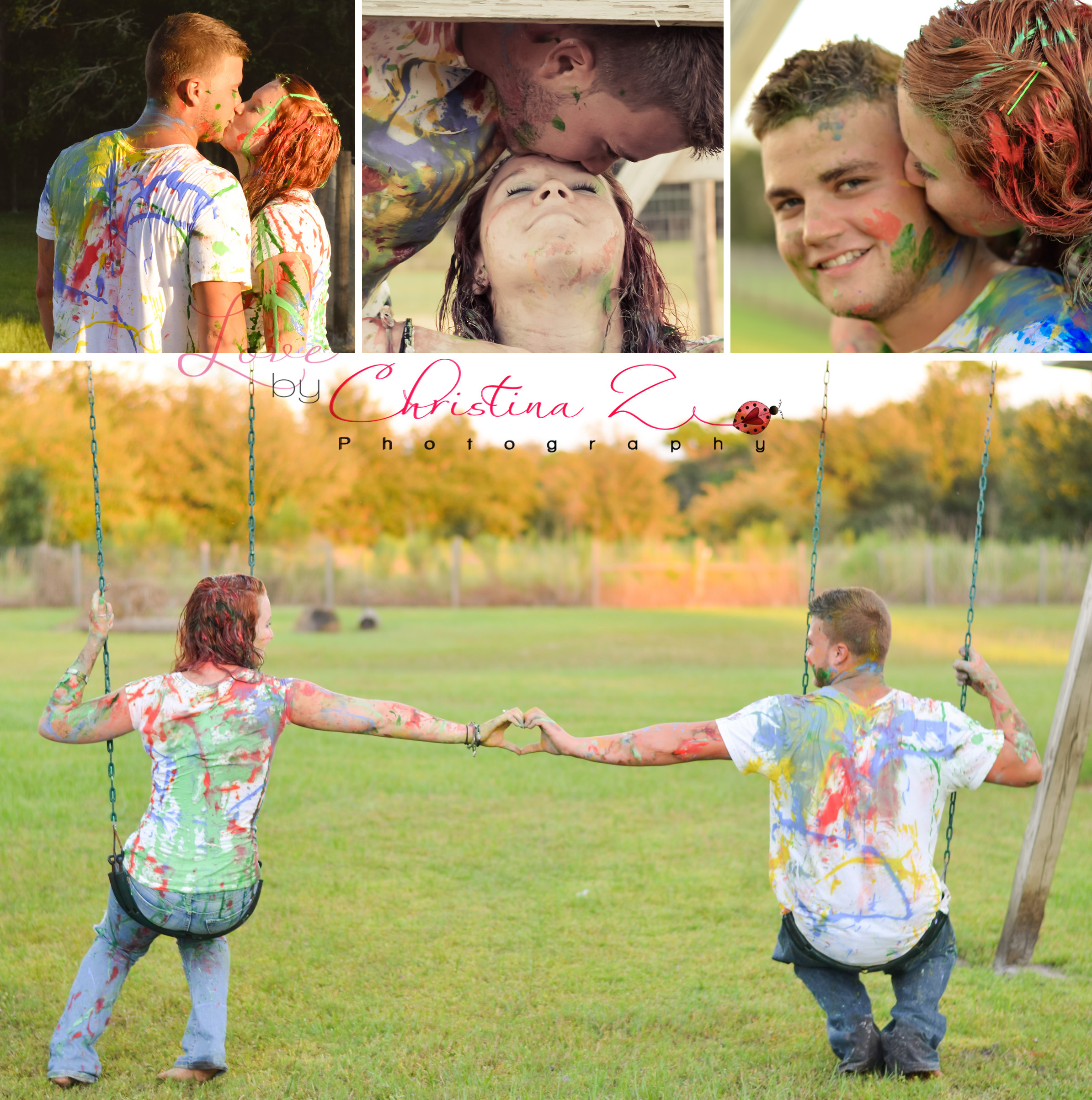 Young Couple in LOVE Paint War Photo Session | Love by Christina Z Photography ©
