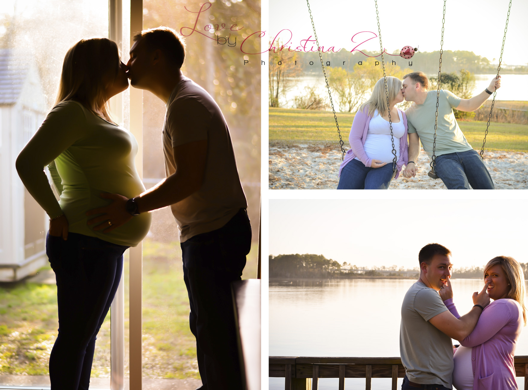 Maternity Couple in LOVE Lifestyle in home +  outdoor Photo Session | Love by Christina Z Photography ©