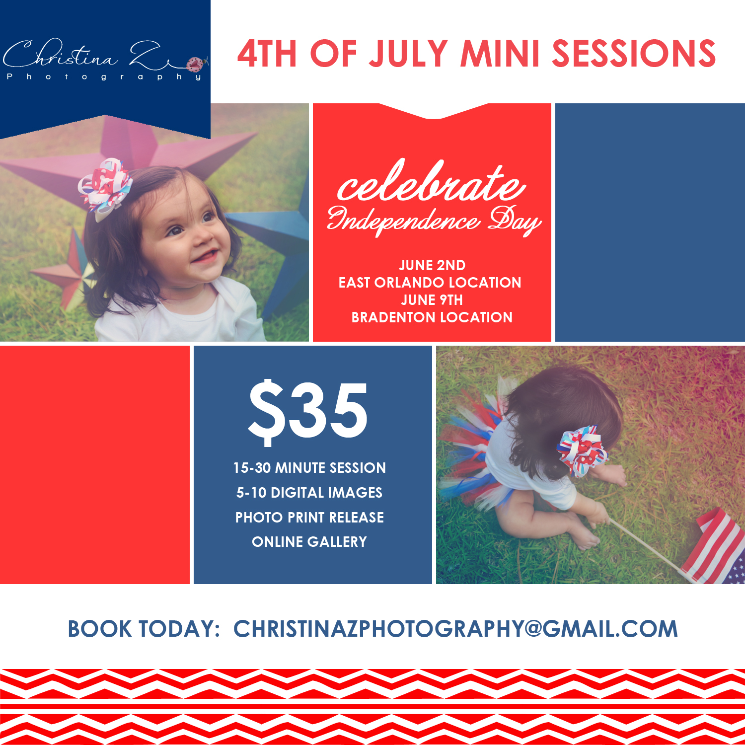 4th of July Mini Session Event  | Christina Z Photography