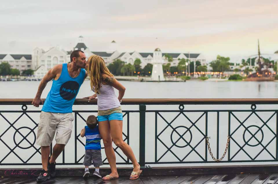A Magical Family Photo Session - Disney World's Boardwalk Resort Photography by Christina Z Photography - Orlando, FL