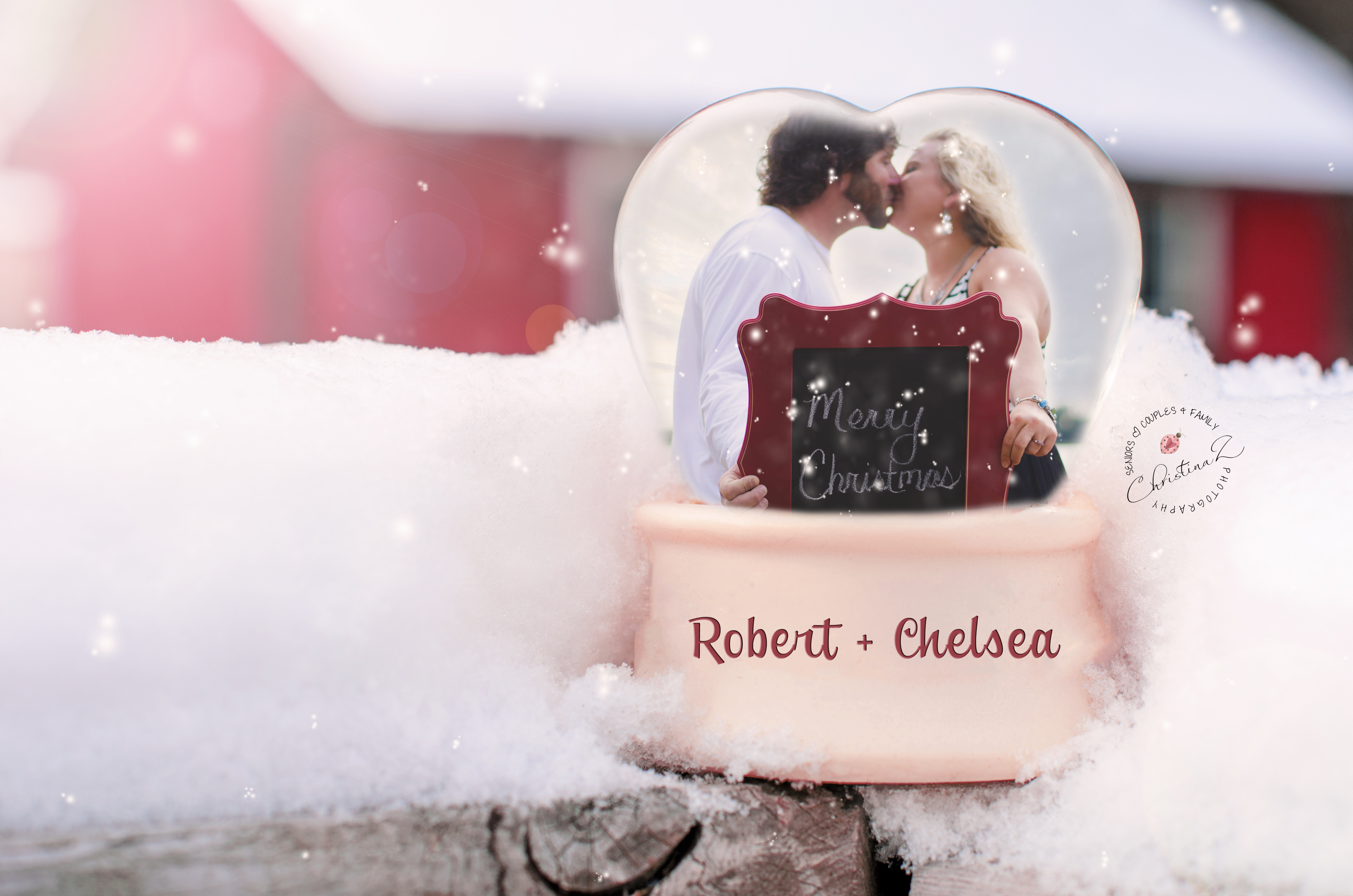 Robert + Chelsea | Couples Holiday Photography in Snow Globe | Christina Z Photography © 2013 - Bradenton, FL