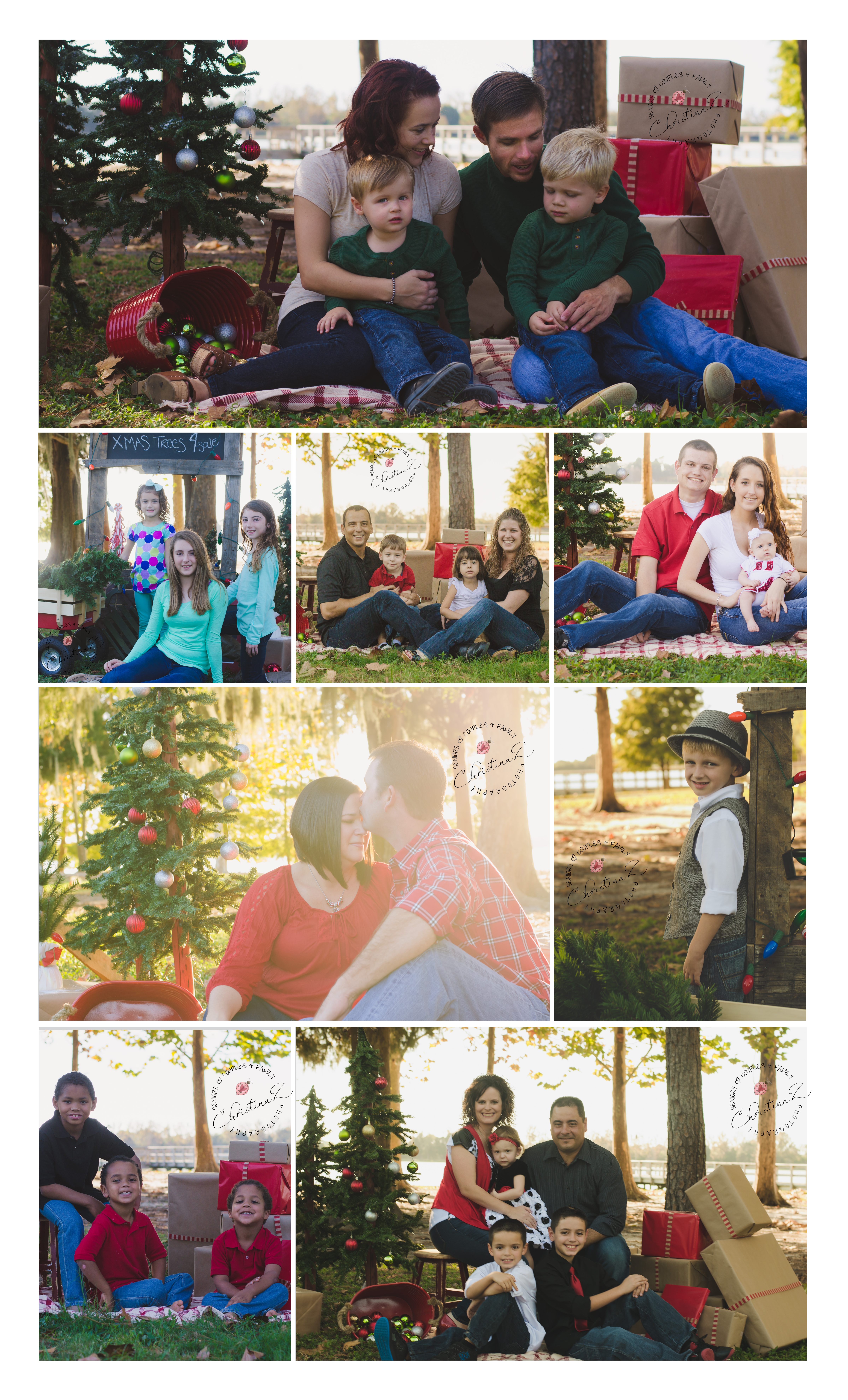 Holiday Photo Sessions by Christina Z Photography - Bradenton, FL © | Holiday Mini Session, Christmas Minis